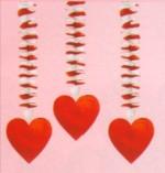 Dekoration Liebe: Hängende Herzen