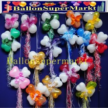 Dekorationen-aus-Mini-Luftballons-Zierschleifen-und-Ringelband