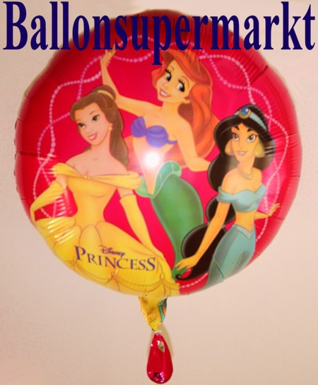 Disney-Princesses-Luftballon-aus-Folie-Herzluftballon-Prinzessinnen