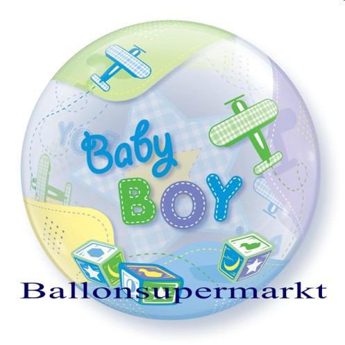 Geburt-Baby-Boy-Bubble-Luftballon-ohne-Helium-1
