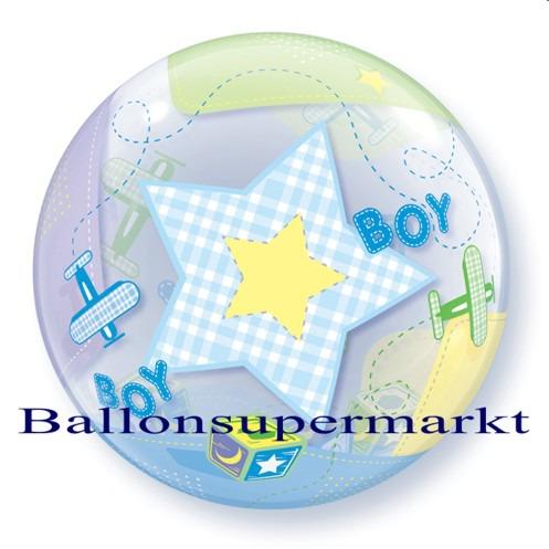 Geburt-Baby-Boy-Bubble-Luftballon-ohne-Helium