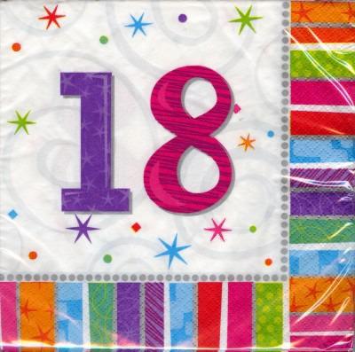 18. Geburtstag Deko Servietten