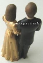 Tischdeko mit dem Hochzeitspärchen, Golden Hochzeit