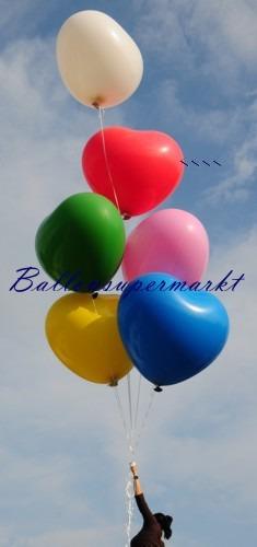 Riesenherzluftballon-Rot-350er