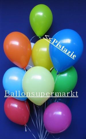 Luftballontraube Standard Rundballons Oval Pistazie
