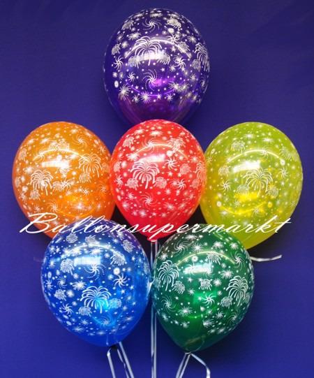 Silvester-Luftballons-Feuerwerk