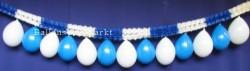 Luftballons blau weis, Girlanden blau weiss 01