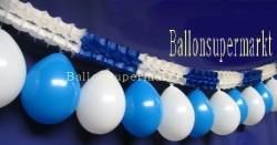 Luftballons blau weis, Girlanden blau weiss 02