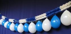 Luftballons blau weis, Girlanden blau weiss 04