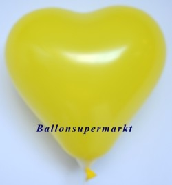 Gelber-Herzluftballon-Mini