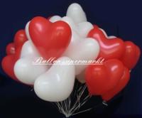 Herzballons Hochzeit 700 Luftballons in Herzform zur Hochzeit steigen lassen