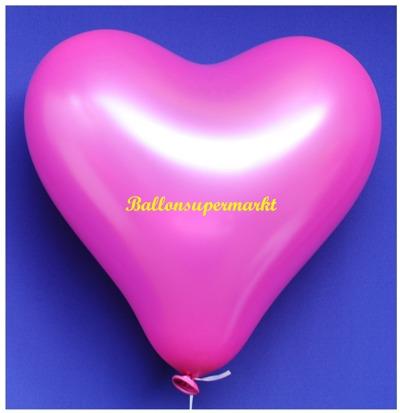 Herzluftballon, 40 bis 45 cm, Pink