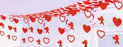 Dekoration Liebe, Girlande mit Liebesengeln