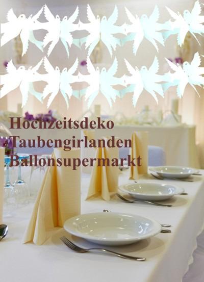 Hochzeit-Dekoration-Hochzeitsgirlanden-Tauben