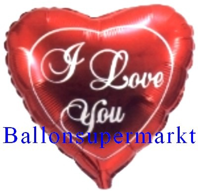 Herzluftballon I Love You