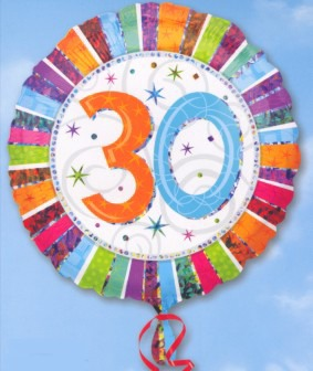 Folienballon: 30. Geburtstag