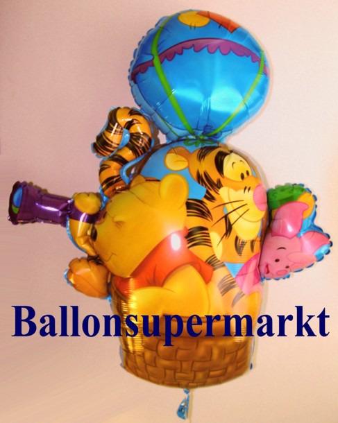 Puuh-Tiiger-Ferkel-im-Fesselballon-Luftballon-aus-Folie