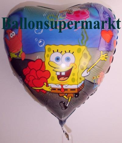 Luftballons-Folienballons-Spongebob-Schwammkopf