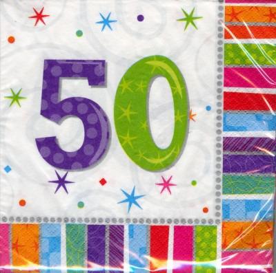 50. Geburtstag Deko Servietten