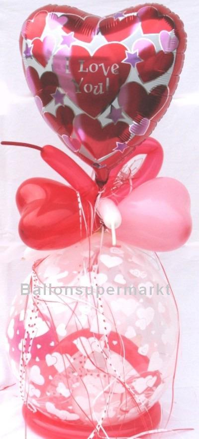 Mit Liebe schenken, Geschenk im Ballon