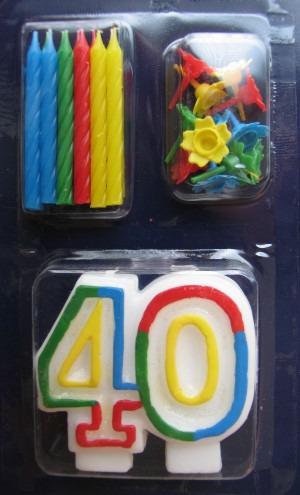 Geburtstagskerze 40. Geburtstag
