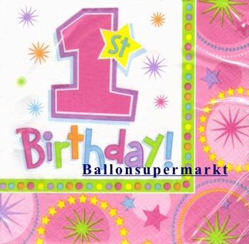 Geburtstagsservietten-1.-Kindergeburtstag-A-One-derful-Birthday-Girl-Servietten