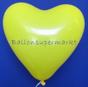 Herzluftballons Gelb