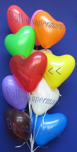 Herzballons Rot-Kristall
