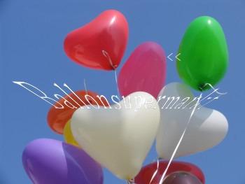 Rosafarbene Herzluftballons