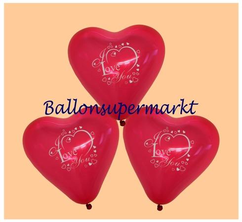 Herzluftballons, Luftballons Herzen, Herzballons Liebe