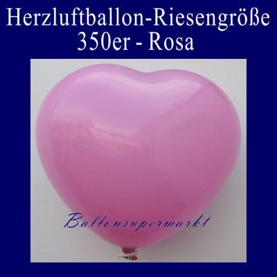 Herzluftballon-Riesenluftballon-Riesenballon-Herz-Rosa