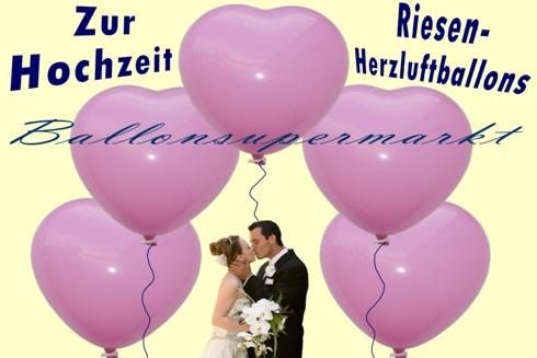 Riesen-Herzluftballons-Rosa-mit-Hochzeitspaar