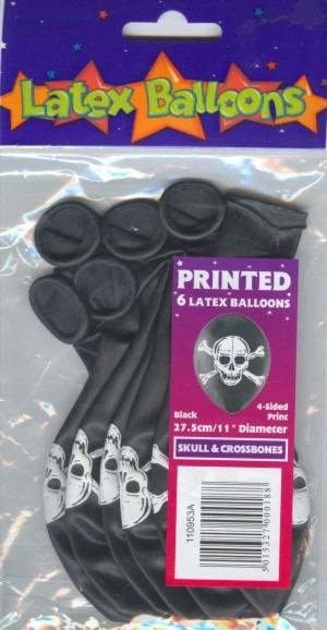 Luftballons Halloween, Piratenköpfe