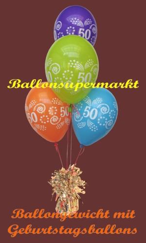 Geburtstag-50-Luftballons-mit-Ballongewicht