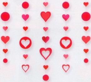 Dekoration Liebe, Herzdeko, Hängedekoration Herzen