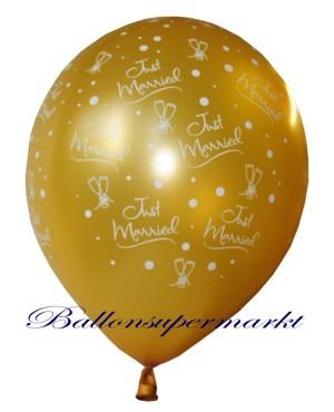 Just-Married-Hochzeits-Luftballon-Gold