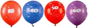 18.,40., 50., 60., Geburtstag Luftballons