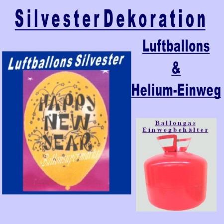 Luftballons Silvester Dekoration Helium