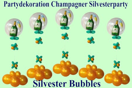 Partydekoration-Champagner-Silvesterparty