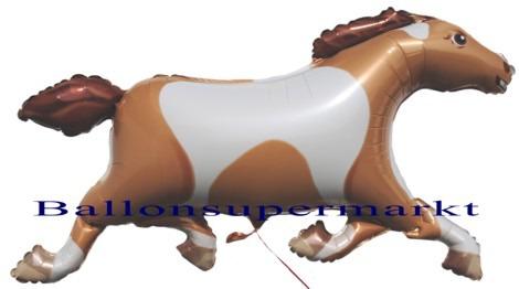 Braun-weisses-Pferd-Luftballon-aus-Folie