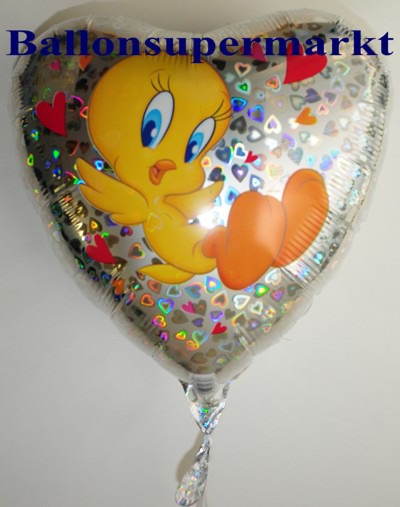 Luftballon-Folienballon-Tweety-Hearts