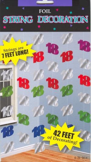 ballonsupermarkt geburtstag string 18 deko. Black Bedroom Furniture Sets. Home Design Ideas