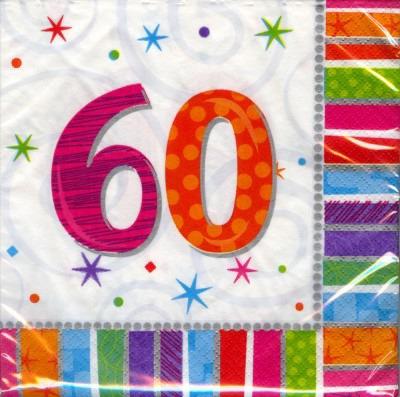 60. Geburtstag Deko Servietten
