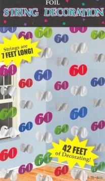 ballonsupermarkt geburtstag string 60 deko. Black Bedroom Furniture Sets. Home Design Ideas
