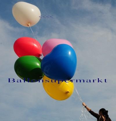 Herzluftballon-Riesenluftballon-Riesenballon-Herz-Weiss