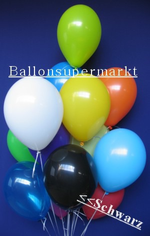 Luftballontraube Standard Rundballons Oval Schwarz