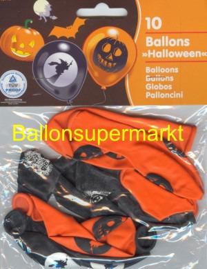 Ballons Halloween, Kürbis, Monster, Hexen, Fledermäuse