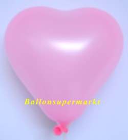 Rosa-Herzluftballon-Mini