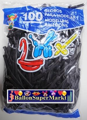 Modellierballons, Luftballons zum Modellieren, neon-lila-100 Stück
