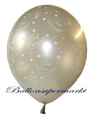 Just-Married-Hochzeits-Luftballon-Silber